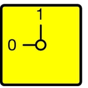 FS908GE-T0, Frontschild, NOT-AUS, gelb, für T0, T3, P1