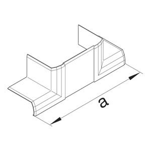 T-Stück halogenfrei zu BRN 70x110mm cws