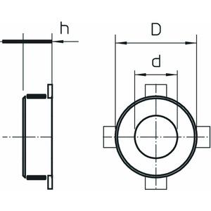 TCX-400, Rohrmanschette für brennbare Rohre ø400mm, FS
