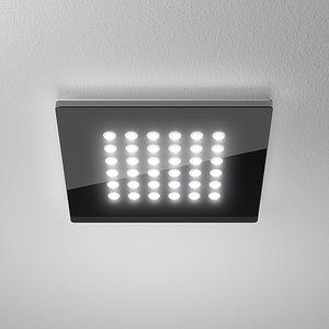 DOMFLQ 206.30.02, Domino Flat Square QS Einbau-Downlight 11W 830 410LM Quadrat schwarz