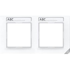 AC 5840 BFNA WW, Rahmen, 4fach, Schriftfelder 9 x 55 mm, bruchsicher, für waagerechte Kombination
