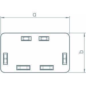 WDK HE60130CW, Endstück 60x130mm, PVC, cremeweiß, RAL 9001