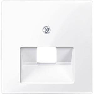 Zentralplatte für UAE-Einsatz, 1fach, aktivweiß glänzend, System M