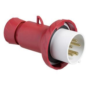 CEE Stecker, Schraubklemmen, 32A, 3p+E, 380-440V AC, IP67
