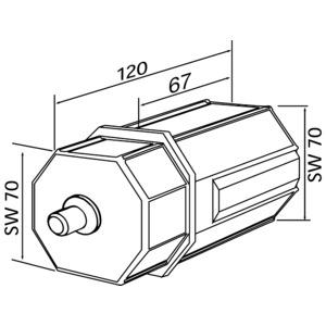 4031, Walzenkapsel, SW70, Einsteckl.67 mm