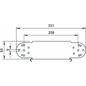 RGBEV 830 FT, Gelenkbogen-Element vertikal 85x300, St, FT