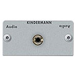 Anschlussblende mit Lötanschluss, Audio Klinke (3,5 mm Stereo) Halbblende, Aluminium eloxiert