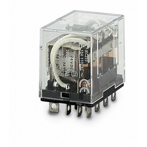 LY4N-D2 24VDC, 4 W, 10 A, Sockeltype, LED-Anzeige, Freilaufdiode