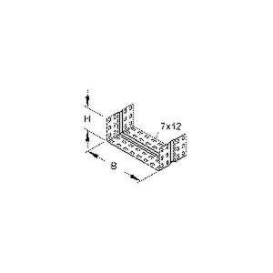 RV 85.200 F, Stoßstellenverbinder, einstückig, U-förmig, 74x197 mm, Stahl, feuerverzinkt DIN EN ISO 1461, inkl. Zubehör