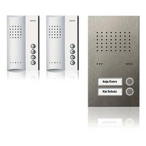 Acero pur Audio-Set Freisprechstelle 2 WE, edelstahl/weiß