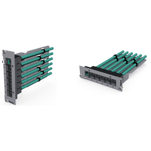 preLink® / fixLink® Keystone-Einschubmodul 7TE, RAL7035