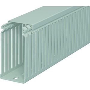 LKV 10050, Verdrahtungskanal 100x50x2000, PVC, steingrau, RAL 7030