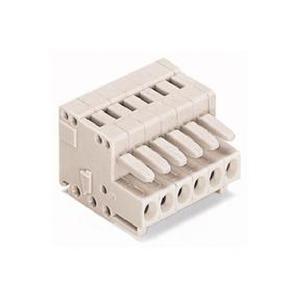 1-Leiter-Federleiste 100% fehlsteckgeschützt 1,5 mm² Rastermaß 3,5 mm 4-polig lichtgrau