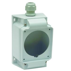 Aufputzgehäuse für Anbausteckdosen, 16/32A, 3/4/5p, mit Flansch 90x100mm