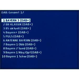 KWS OPTION DVB-T/T2 und DAB/DAB+, Pegel-/BER-/MER-/Packet-Error-Messung/Konstellationsdiagramm für DVB-T/-T2 und DAB/DAB+, Bilddarstellung für DVB-T/-T2