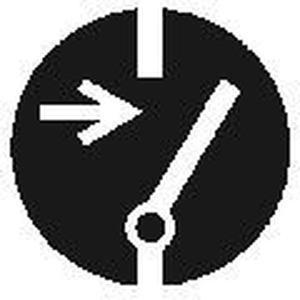MAS-C-2, Gebotszeichen, Größe C=50mm Vor Arbeiten freischalten VE = 10 Karten, 5 Symbol Preis per VPE  VPE =10