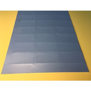 LEB 3460PS, Laser-Etiketten A4 Bogen, silber Anzahl / Bogen : 21 Etiketten