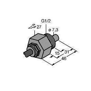 FCS-G1/2A4-NA/D100, Strömungsüberwachung, Eintauchsensor ohne integrierte Auswerteelektronik