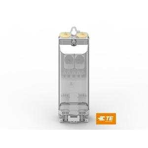 EKM-2050-2D1-5S/U-2SA-E1, Sicherungskasten für 2 Sicherungen, 5 Schiebeklemmen, mit 2 Ü-Schutzbausteinen
