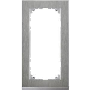 M-Pure Decor-Rahmen, 2fach ohne Mittelsteg, Edelstahl/aluminium, M-Pure Decor
