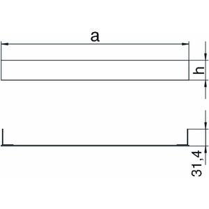 SES 35047, Endverschlussstück 350x47mm, St, FS