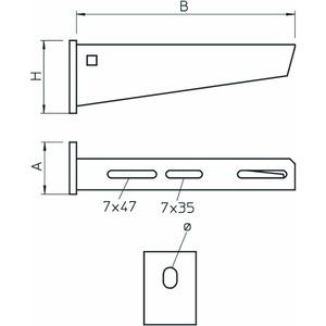 AW 30 71 FT, Wand- und Stielausleger mit angeschweißter Kopfplatte B710mm, St, FT