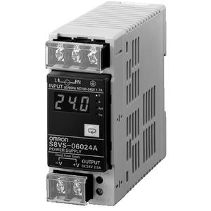 S8VS-06024A, Schaltnetzteil, 60 W, 100 bis 240 VAC Eingang, 24 VDC, 2,5 A Ausgang, DIN-Schienenmontage, mit Digitalanzeige, NPN