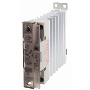 G3PE-215B 12-24VDC, Halbleiterrelais, 1-phasig, integrierter Kühlkorper, Last: 15A 75…264V AC, Ansteuerung: 9,6…30V DC, Null-Punkt schaltend, DIN-Schienen/Wandmontage