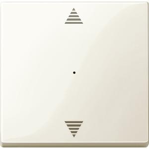Wippe für Taster-Modul 1fach (Pfeile Auf/Ab), weiß glänzend, System M
