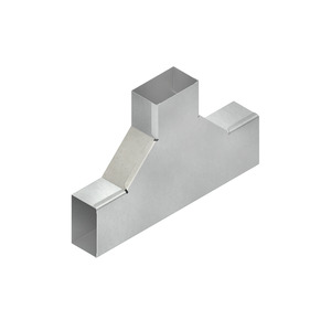 LUTC 60.060 E3, T-Stück mit Deckel, 60x60 mm, Edelstahl, Werkstoff-Nr.: 1.4301, 1.4303
