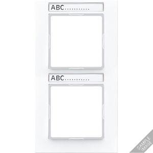AC 584 BFNA ANM, Rahmen, 4fach, Schriftfelder 9 x 55 mm, bruchsicher, für senkrechte Kombination