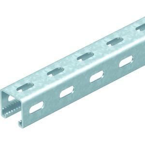 MS4141PP0300FT, Profilschiene mit Seitenlochung,Schlitz 22mm 300x41x41, St, FT