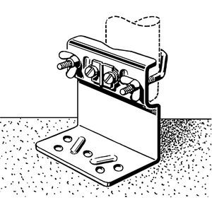 ZTM 01-MASTSCHUH 32-60, Mastschuh, Mastdurchmesser: 32-60 mm, mit Erdungsanschluss