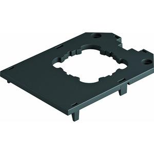 UT34 D1, Abdeckplatte für UT34, 1 Tragring-Gerät 104x76x4, PA, graphitschwarz, RAL 9011