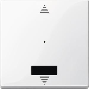 Wippe für Taster-Modul 1fach mit IR (Auf/Ab), polarweiß glänzend, System M