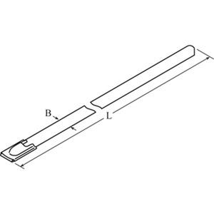 DTE3-0360-I-NA-E6-V, DIS-TY Kabelbinder aus Edelstahl 4,5x360 Typ 316, mit Kugelverschluss Preis per VPE  VPE =100