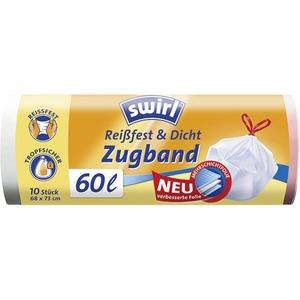 Swirl® 60 l Zugband Müllbeutel VPE, Swirl® 60 l Zugband Müllbeutel