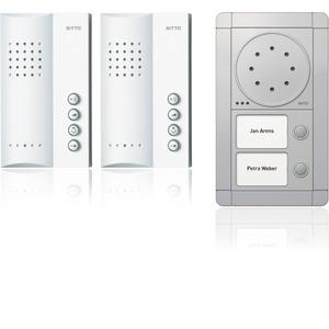 Portier Audio Set 2 WE, silber/weiß
