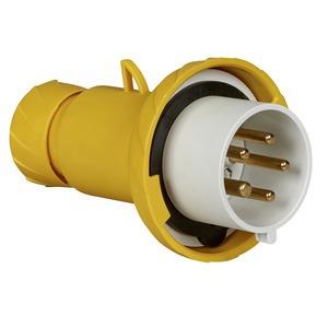 CEE Stecker, Schraubklemmen, 32A, 3p+N+E, 100-130 V AC, IP67
