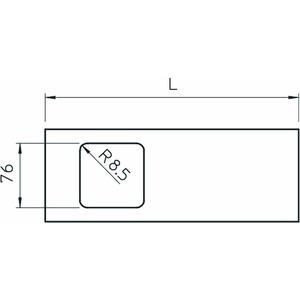 D2-1 110RW, Oberteil für Geräteeinbau 1-fach 110x300mm, PVC, reinweiß, RAL 9010