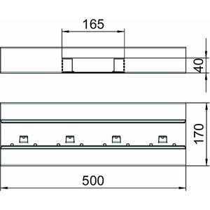 GS-ST70170RW, T-Stück symmetrisch 70x170mm, St, reinweiß, RAL 9010
