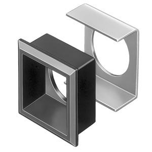 Frontrahmen-Set für flachen Einbau Druck-/Schlüsselschalter schwarz 24x24 Ks