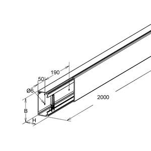 LFG 80.200, GFK-Leitungsführungskanal, mit Deckel, 80x200x2000 mm, Polyester glasfaserverstärkt, pultrudiert, RAL 7032, kieselgrau