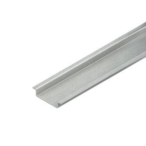 2933/2 GO, Tragschiene, Hut-Profil, 35x7,5x2000 mm, ungelocht, Stahl, galvanisch verzinkt DIN EN ISO 2081, dickschichtpassiviert