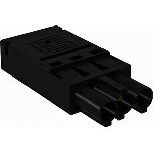 ST-F GST18i3p SW, Steckerteil 3-polig Federkraftanschluss, schwarz