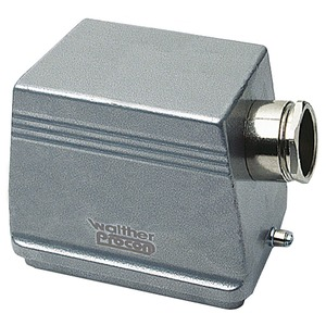 Tüllengehäuse B48, BB92, D128, DD216 und 2-mal MOB24 aus Aluminium der Höhe 96mm mit Längsverriegelungsnocken, 1xM40 Verschraubung und Kabeleinführung seitlich-T712748MV