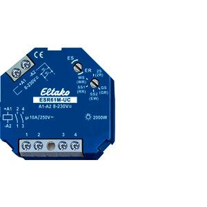 ESR61M-UC, Multifunktions-Stromstoß-Schaltrelais UC. 1+1 Schließer potenzialfrei 10A/250V AC