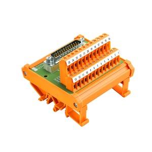RS SD15B UNC 4.40 LP2N, Übergabemodul mit Klemme, Steckverbinder, SUB-D-Stecker gemäß IEC 60807-2 / DIN 41652, 15-polige Buchse, LP2N 5.08mm, Schraubanschluss