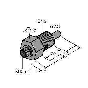 FCS-GL1/2A4-NAEX-H1141, Strömungsüberwachung, Eintauchsensor ohne integrierte Auswerteelektronik, TÜV 99 ATEX 1518