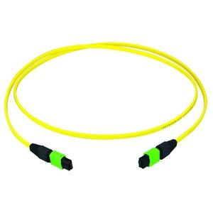 MPO APC female Patchkabel, gelb, E9/125 OS2, 10 m